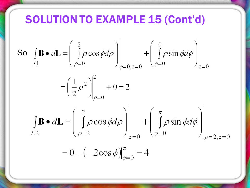 SOLUTION TO EXAMPLE 15 (Cont'd)