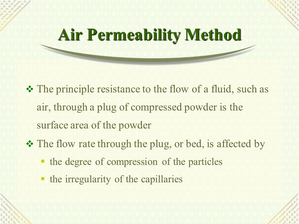 Air Permeability Method