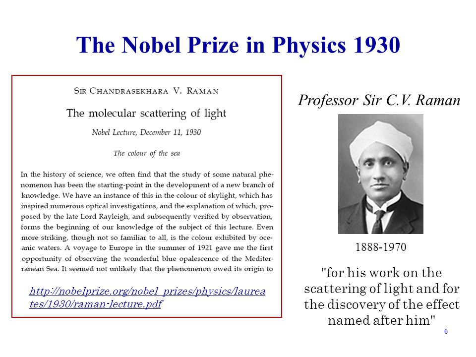The Nobel Prize in Physics 1930