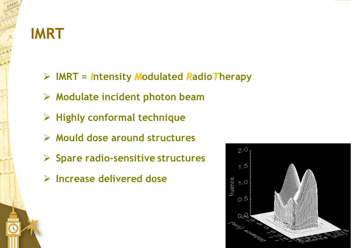 IMRT IMRT = Intensity Modulated RadioTherapy