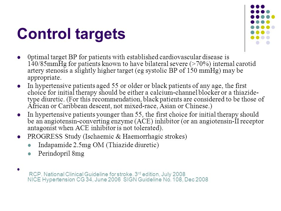 Control targets