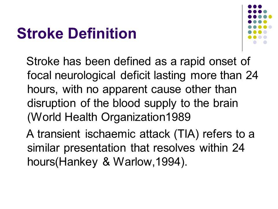 Stroke Definition