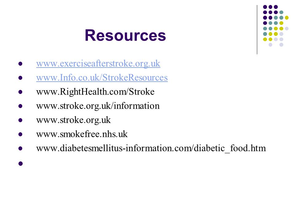 Resources www.exerciseafterstroke.org.uk