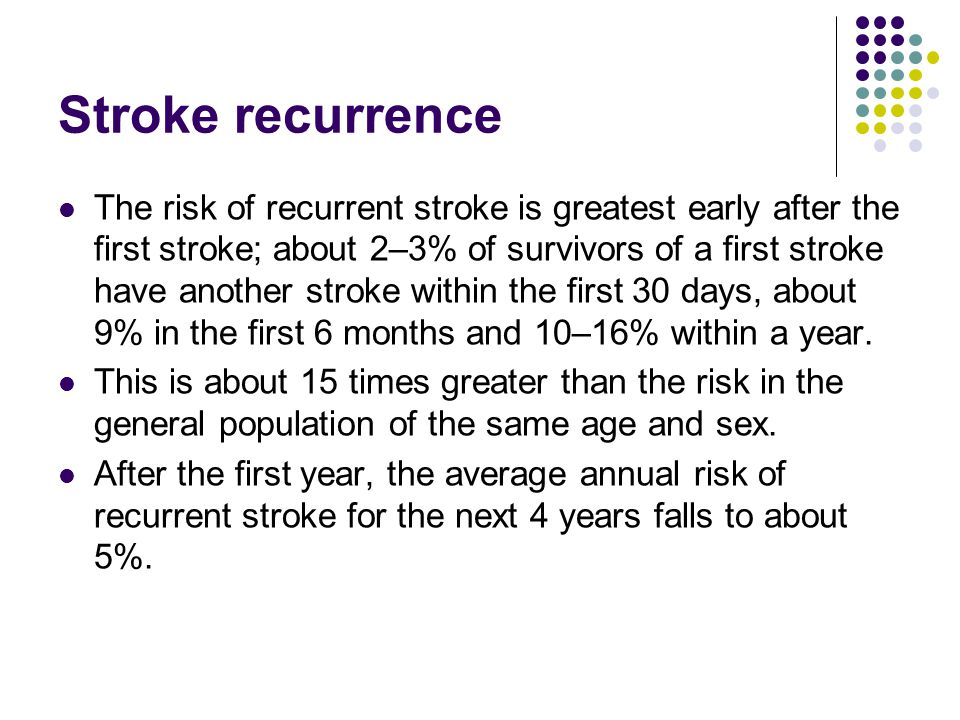 Stroke recurrence
