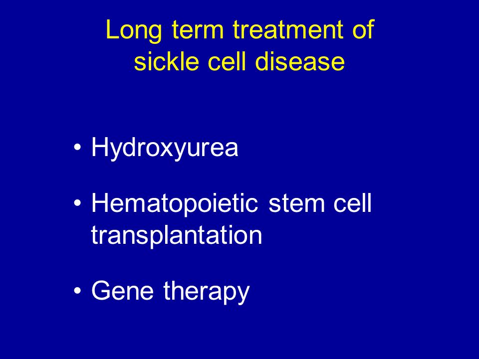 Long term treatment of sickle cell disease
