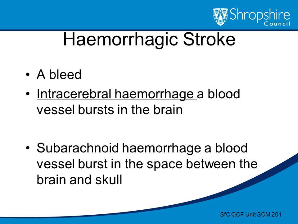 Haemorrhagic Stroke A bleed