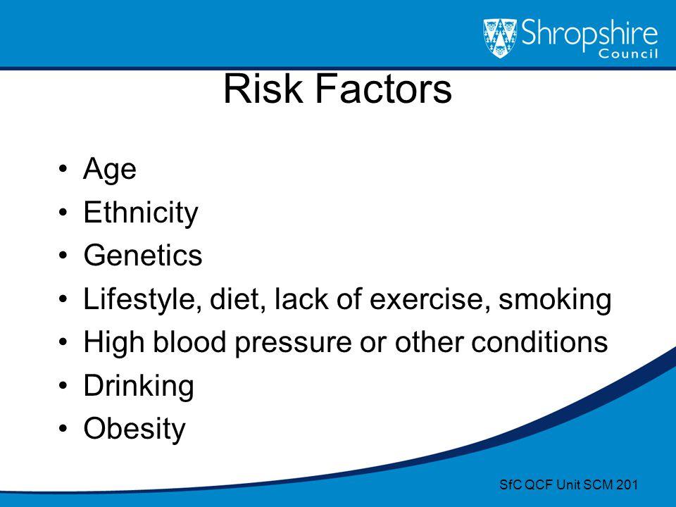 Risk Factors Age Ethnicity Genetics