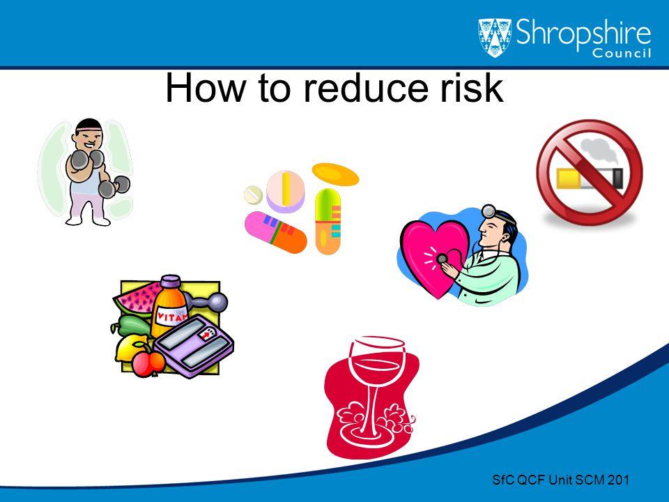 How to reduce risk SfC QCF Unit SCM 201