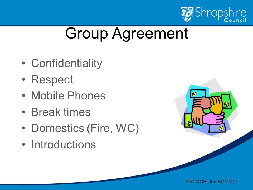 Group Agreement Confidentiality Respect Mobile Phones Break times