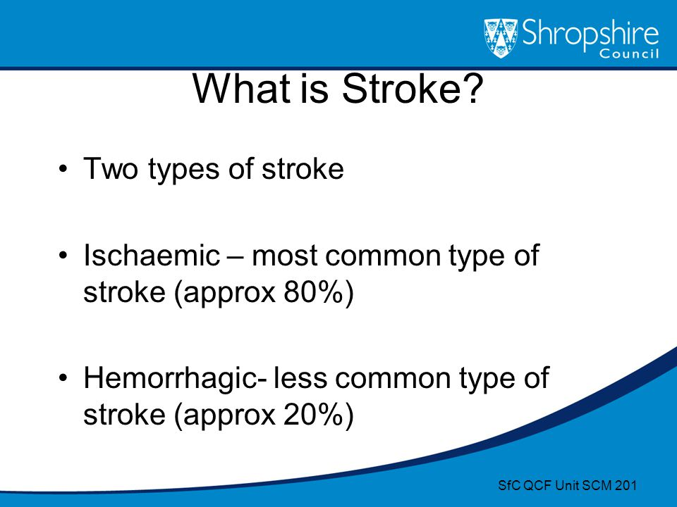 What is Stroke Two types of stroke