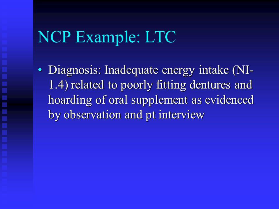 NCP Example: LTC