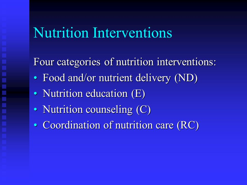 Nutrition Interventions