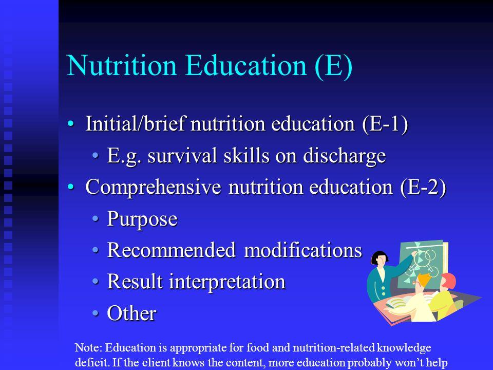 Nutrition Education (E)