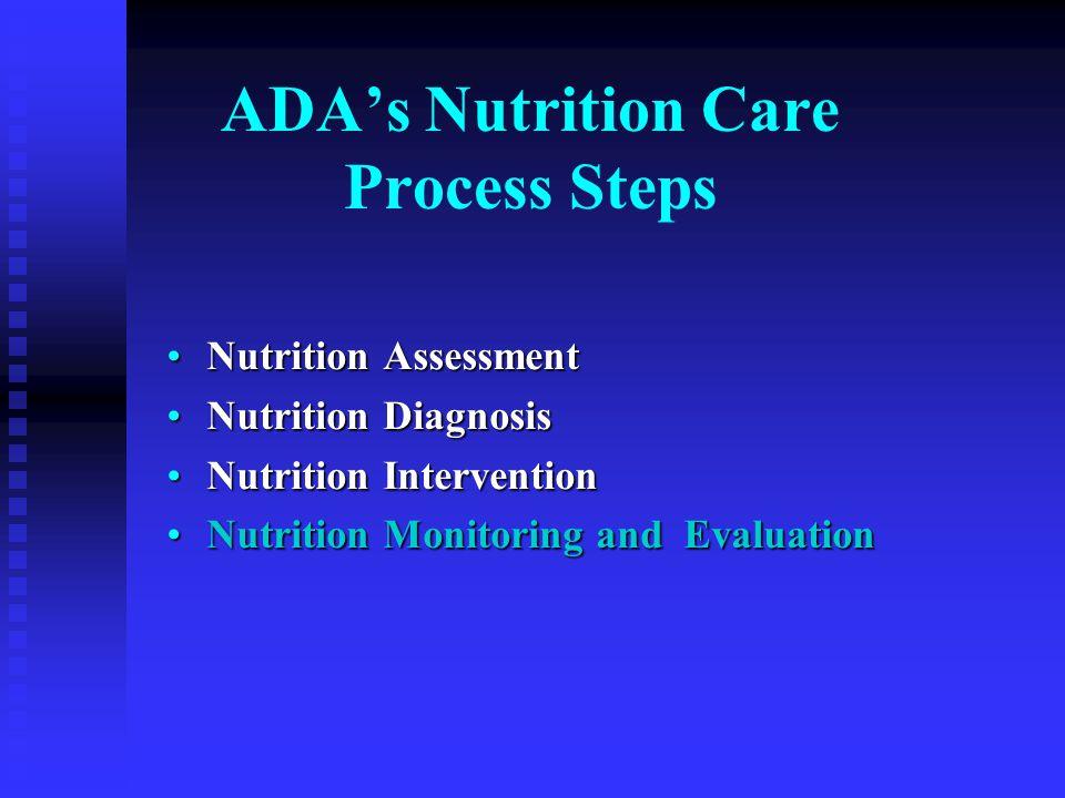 ADA's Nutrition Care Process Steps