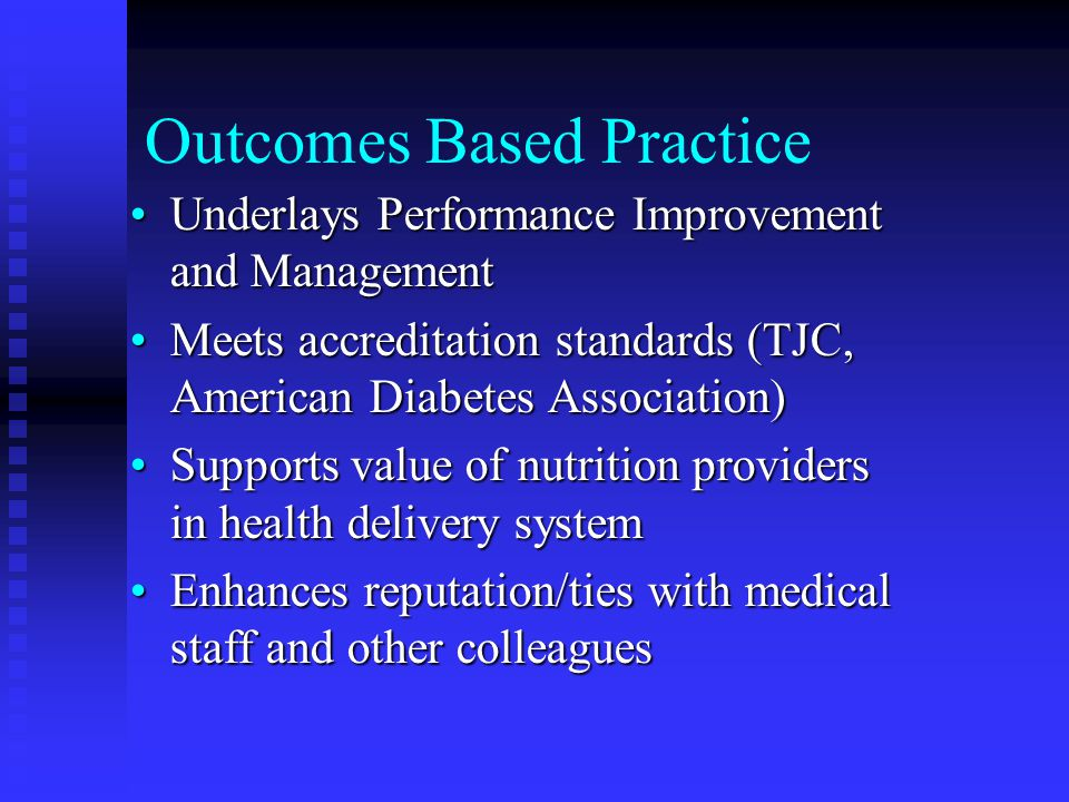 Outcomes Based Practice