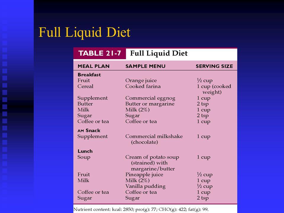 Full Liquid Diet