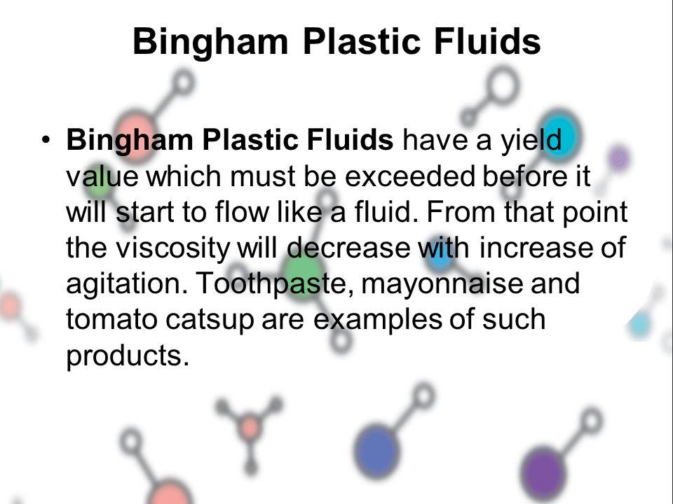Bingham Plastic Fluids