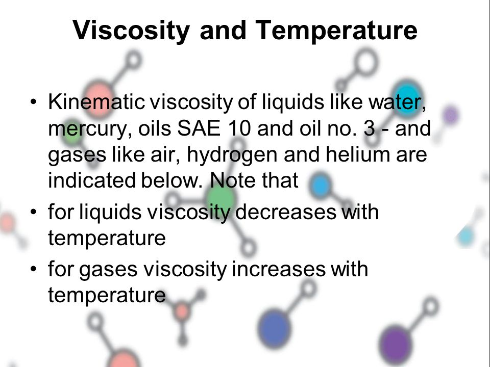 Viscosity and Temperature