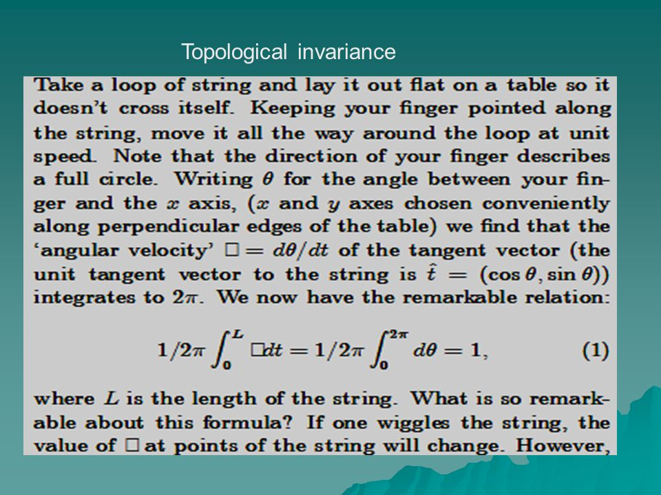 Topological invariance