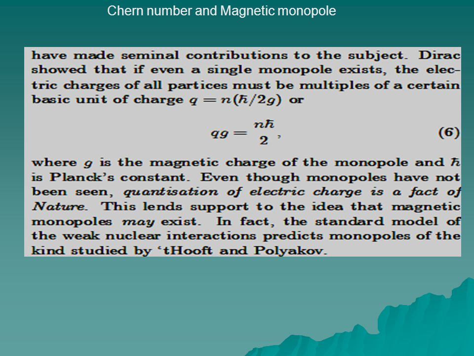 Chern number and Magnetic monopole