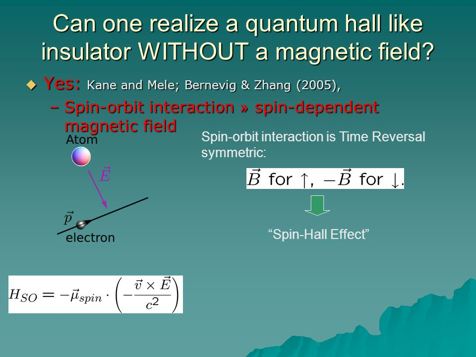 Can one realize a quantum hall like insulator WITHOUT a magnetic field