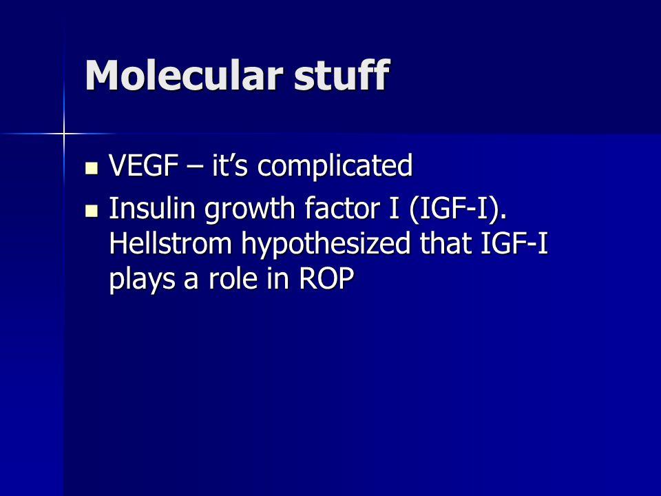 Molecular stuff VEGF – it's complicated