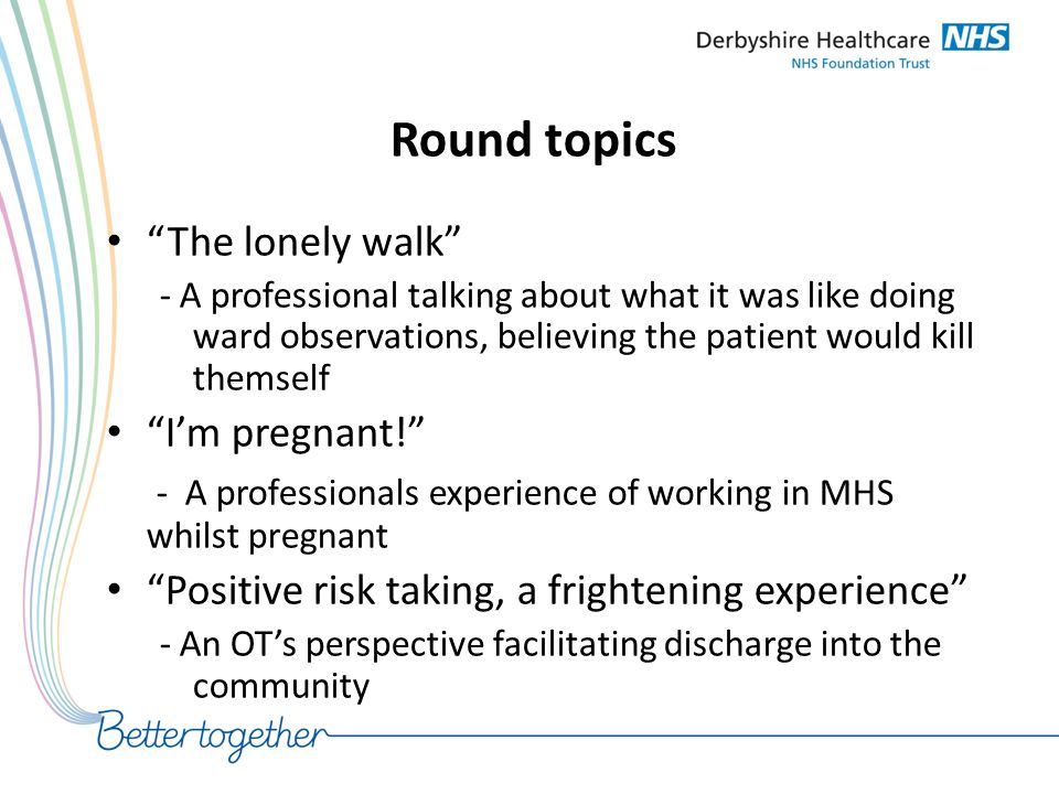 Round topics The lonely walk I'm pregnant!