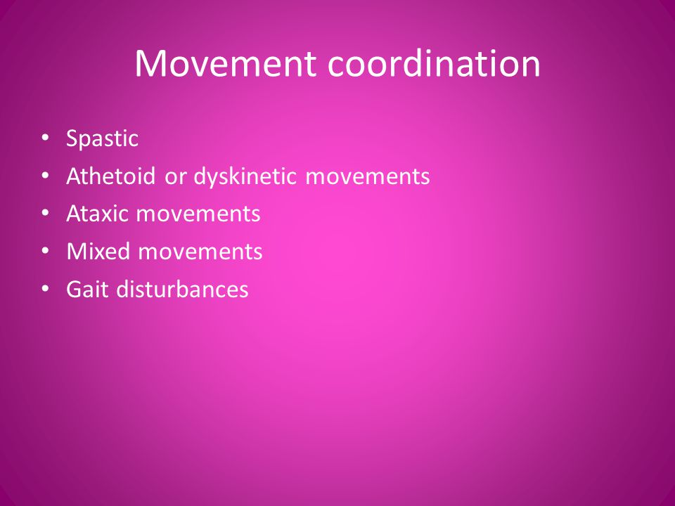 Movement coordination