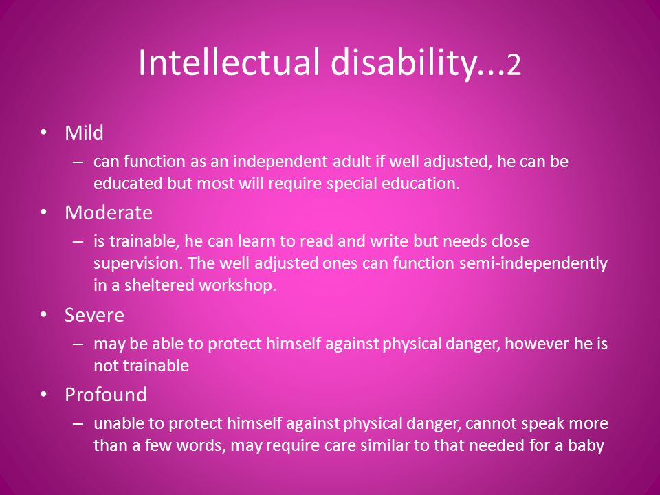 Intellectual disability...2