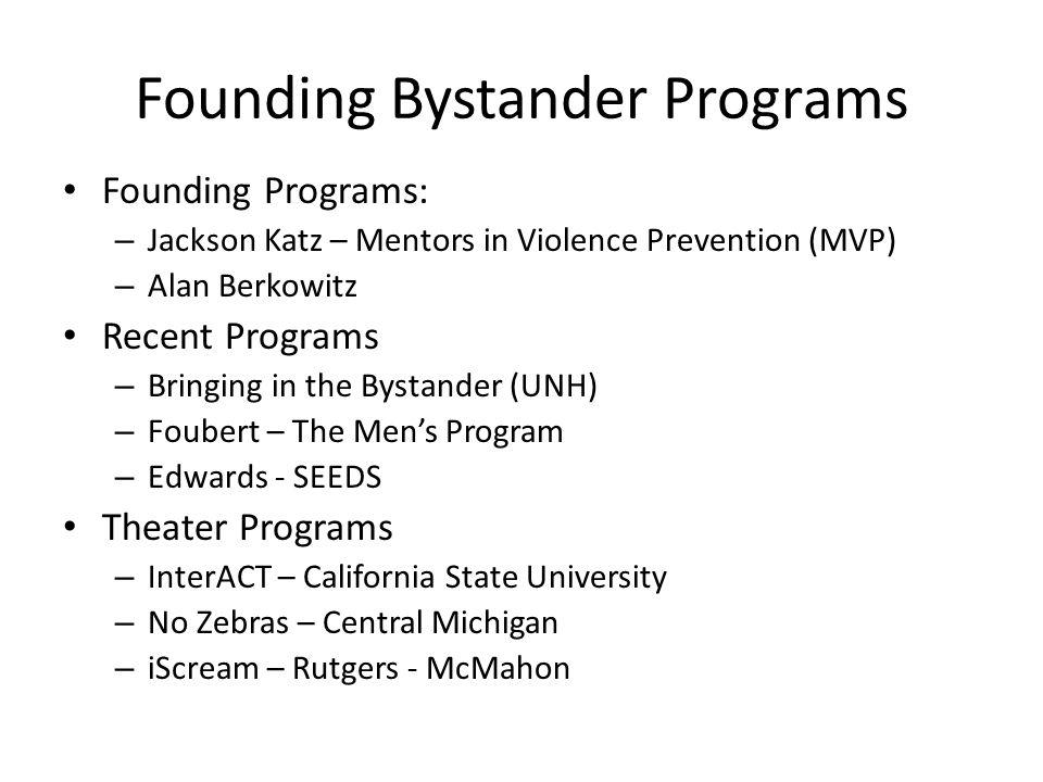Founding Bystander Programs