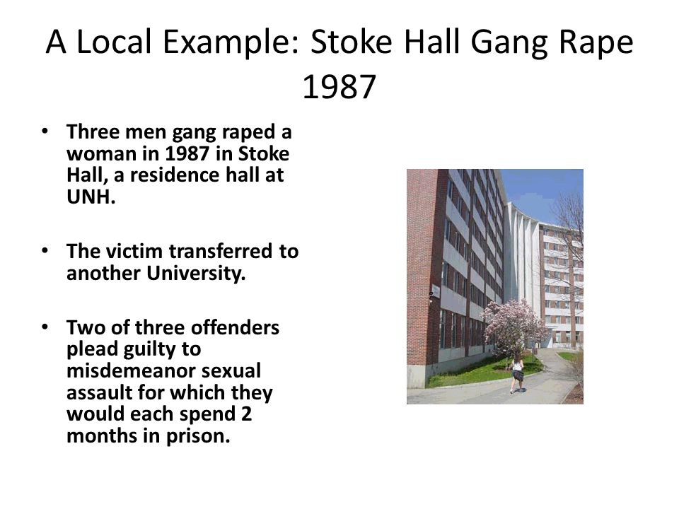 A Local Example: Stoke Hall Gang Rape 1987