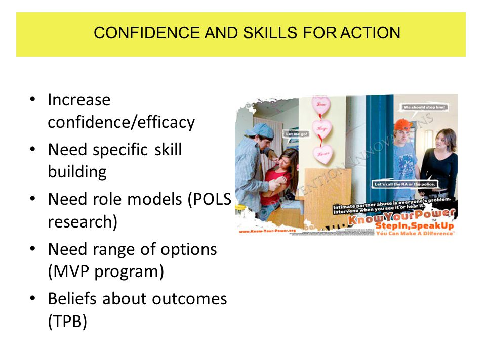 CONFIDENCE AND SKILLS FOR ACTION
