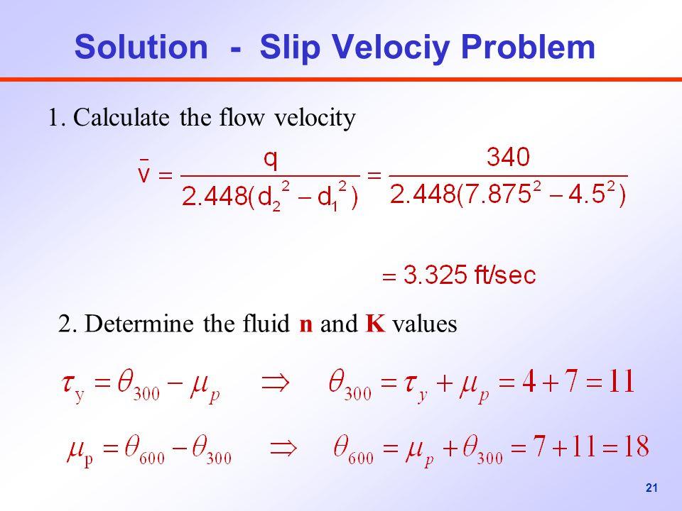 Solution - Slip Velociy Problem
