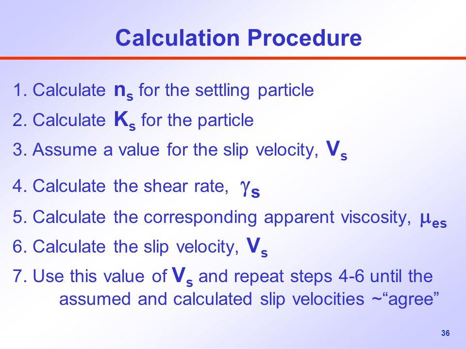 Calculation Procedure