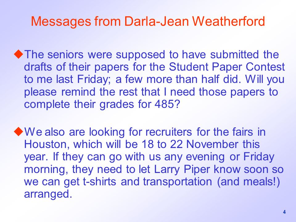 Messages from Darla-Jean Weatherford
