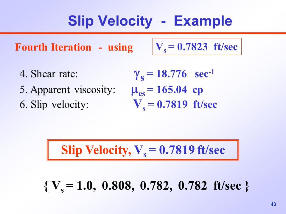 Slip Velocity - Example