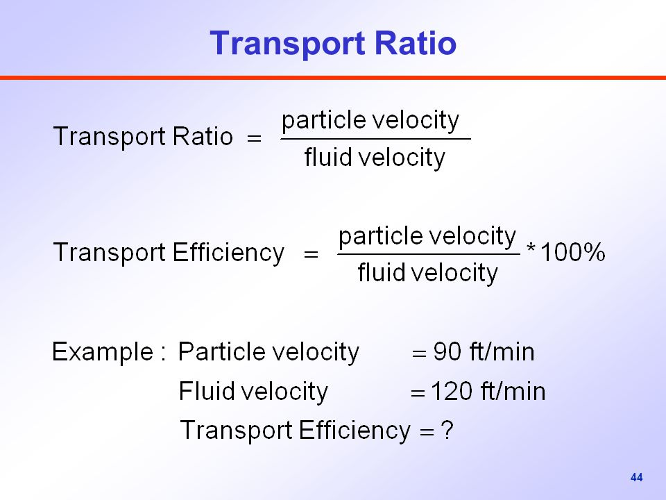 Transport Ratio