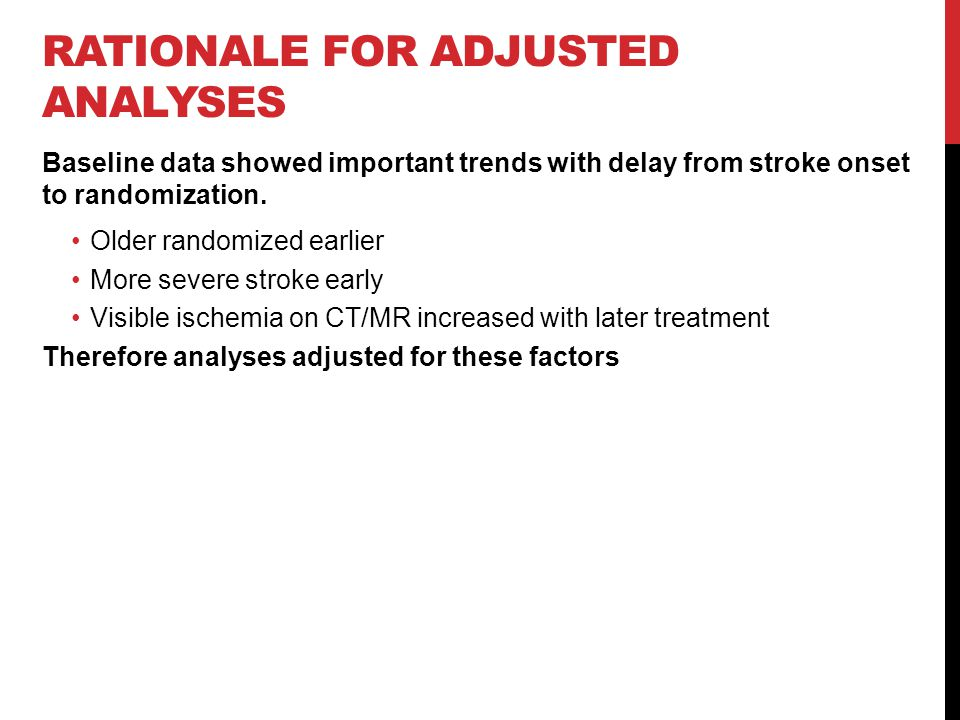 Rationale for Adjusted Analyses