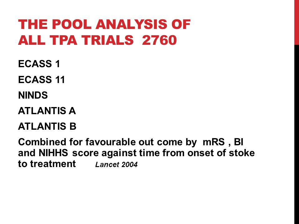 The pool analysis of all tPA trials 2760