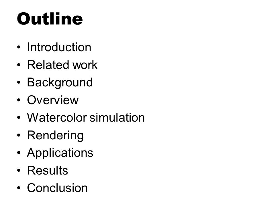 Outline Introduction Related work Background Overview