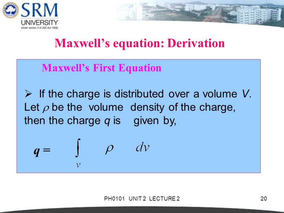 Maxwell's equation: Derivation