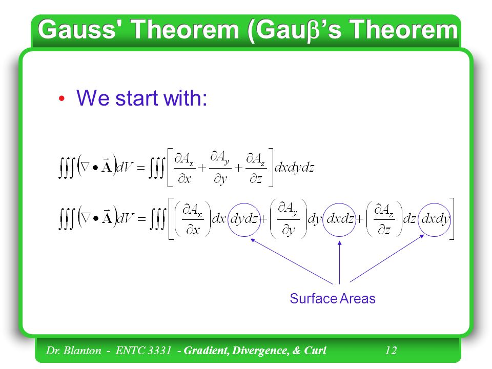 Gauss Theorem (Gaub's Theorem