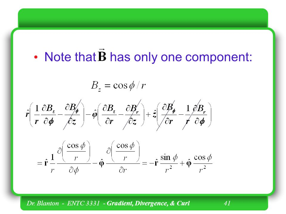 Note that has only one component: