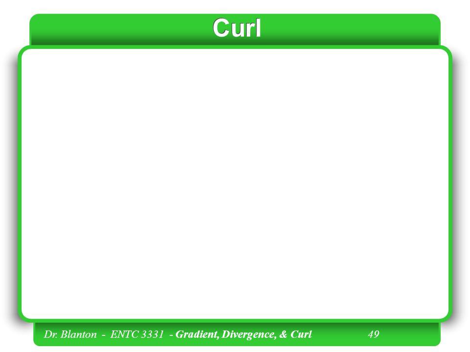 Curl Dr. Blanton - ENTC 3331 - Gradient, Divergence, & Curl 49