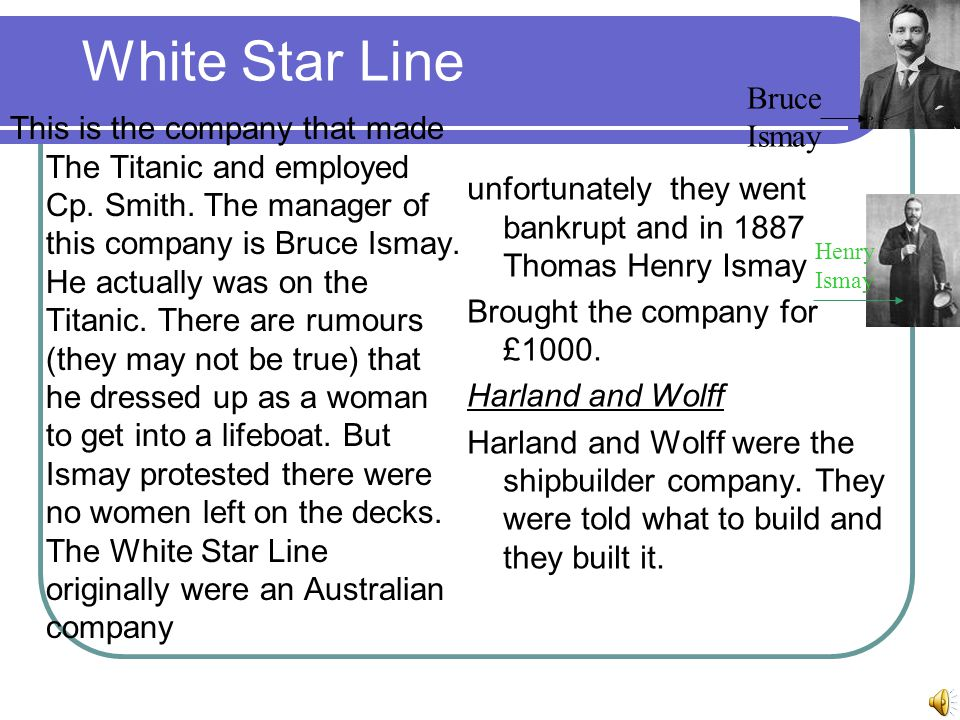 White Star Line Bruce Ismay