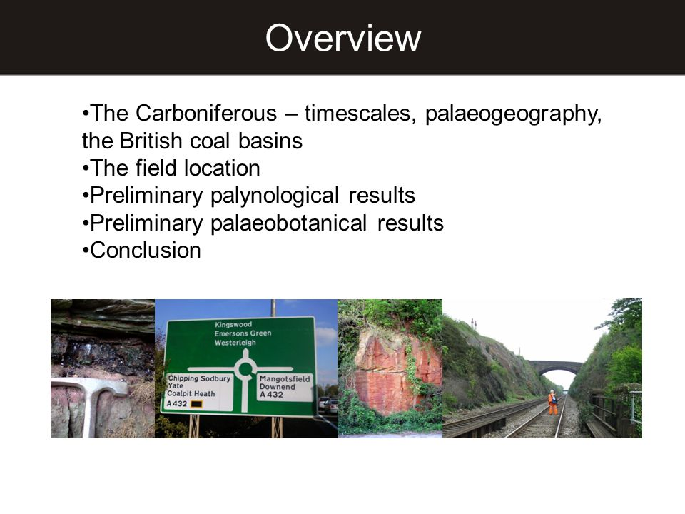 Overview The Carboniferous – timescales, palaeogeography, the British coal basins. The field location.
