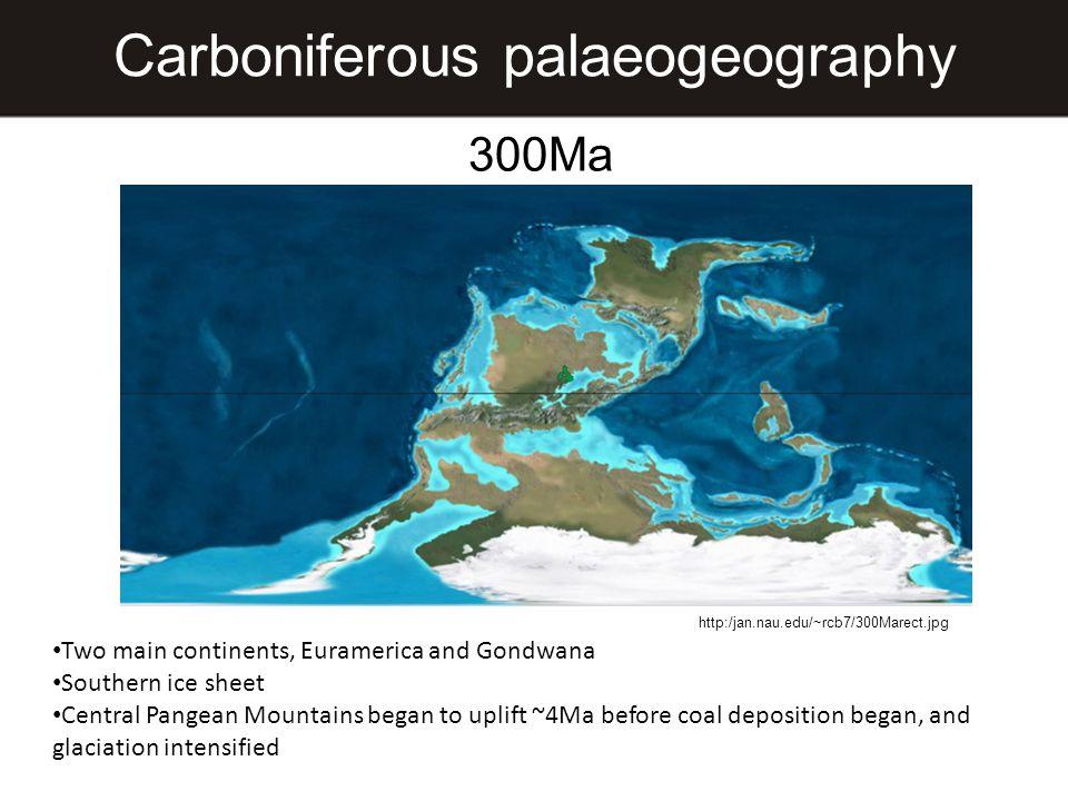 Carboniferous palaeogeography