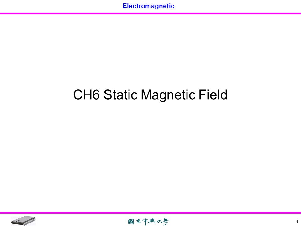 CH6 Static Magnetic Field