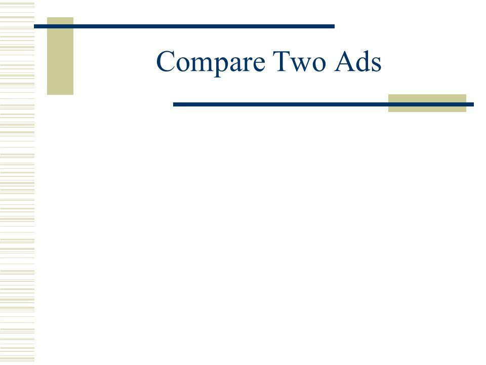 Compare Two Ads