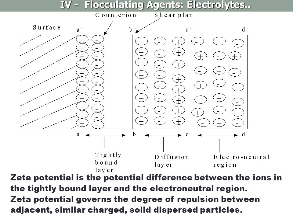 IV - Flocculating Agents: Electrolytes..